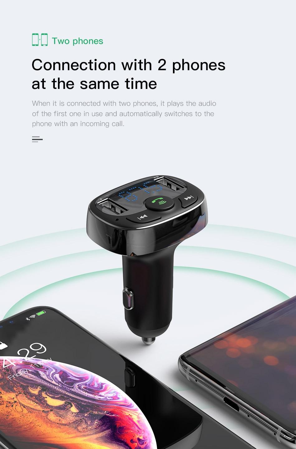 HTB1.29raUrrK1RkSne1q6ArVVXaD - Car Charger for Mobile Phone FM Transmitter Bluetooth MP3 Player