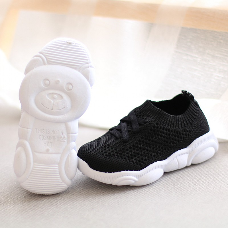New Kids Mesh Shoes Antislip Soft Bottom Baby Sneaker Casual Flat Sneakers Shoes Children Girls Boys Sports Shoes Size 21-30