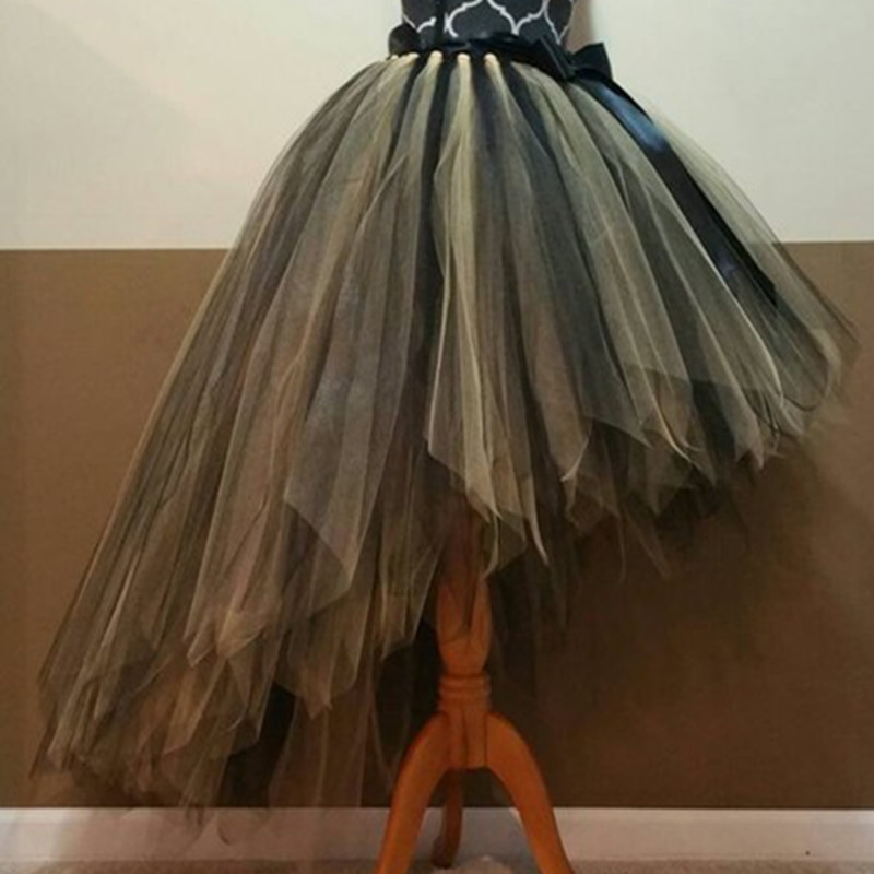 Fashion Halloween Available tutu skirt Fully LINED black gold Tutu Adult tutu fairy cut edge bride tulle princess tutu skirt ipower