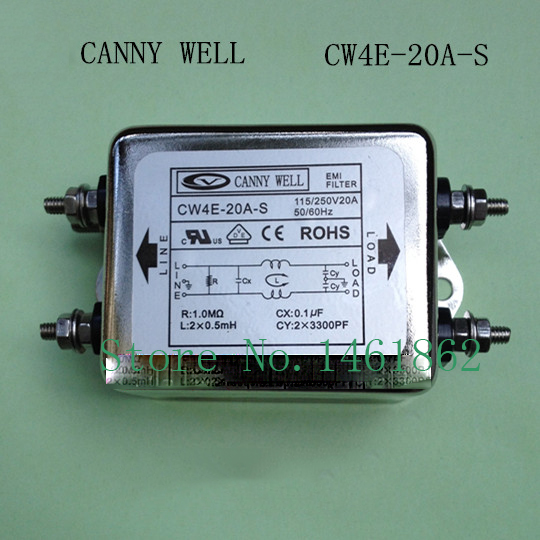 CW4E-20A-S  EMI 110-250V 20A power supply filter staticizer  Electrical Equipment Supplies Power Adapters  cw15e 06a t emi power supply filter 110 250v 6a ac electrical equipment adapters power supplies