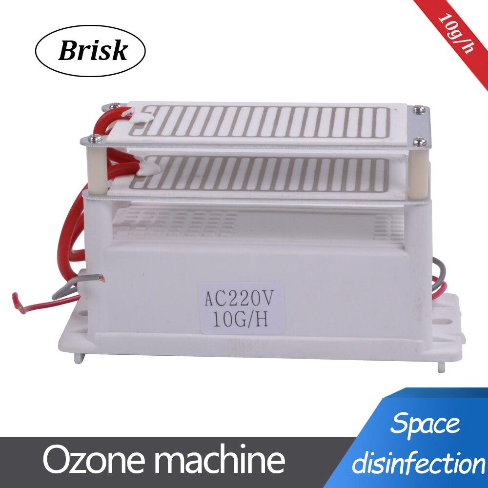 Vivace Portatile Generatore di Ozono In Ceramica 220 v/110 v 10g Doppio Integrato Lunga Durata Piatto In Ceramica Ozonizzatore Aria acqua Purificatore D'aria 2