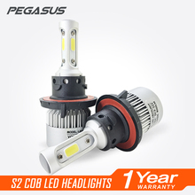 PEGASUS Car Headlight H1 H3 H4 H7 H11 HB3 9005 HB4 9006 HB1 9004 HIR2 9012 HB5 9007 H13 880 881 LED 6500K Auto Headlamp Bulb