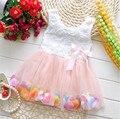 2017 Venta Caliente Del Verano Del Bebé Muchachas Del Vestido de Flores de Encaje Vestidos Vestidos Lindos de La Princesa Fiesta de Disfraces Fantasia Vestido Menina Infantis