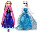 2016 Año Nuevo regalos de Navidad Princesa Anna Elsa Doll 2 unids Juguetes Bonecas Niñas Juguetes