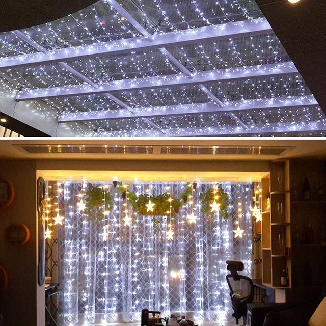 curtain lights connectable led lightled christmas lights3m x 3m 300 led indoor
