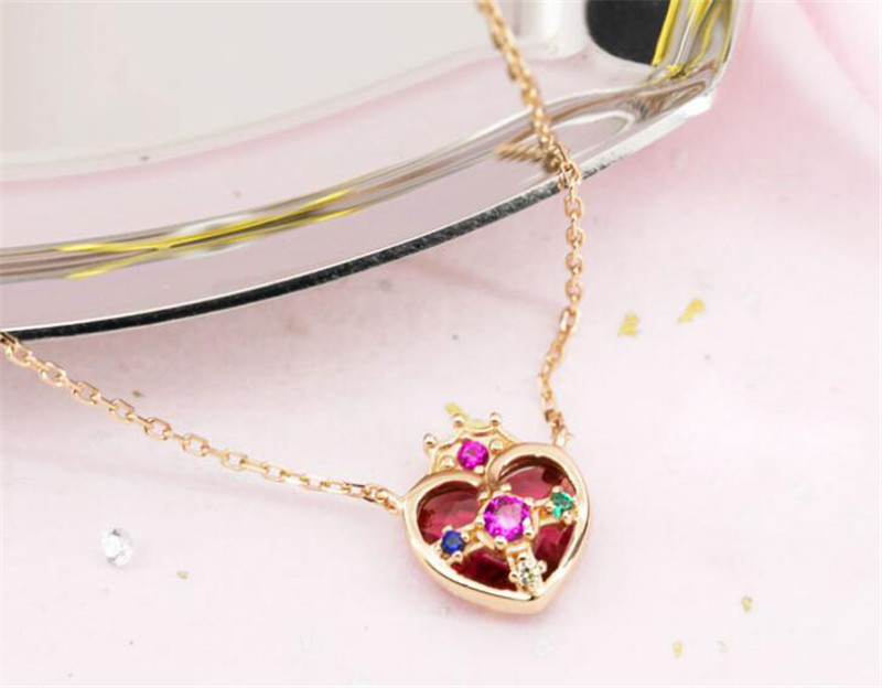 Anime Sailor Moon 20th Anniversary Zecter Pendant Necklace 925 silver Necklace Pendant Halloween Cosplay Necklace Christmas Gift