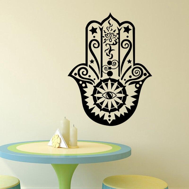 Art Home Decor Hamsa Decaluri de mână de mână Vinil Fatima Yoga - Decoratiune interioara