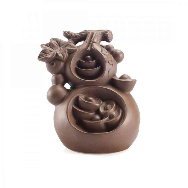 Gourd Ceramic Backflow Incense Burner Smoke Waterfall Stick Incense Holder Smell Aromatic Home Office Incense Crafts Censer in Incense Incense Burners from Home Garden