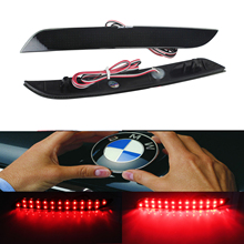 ANGRONG 2x LED Rear Bumper Reflector Tail Brake Stop Light For BMW F30 F31 F34 F35 F32 F36 316i