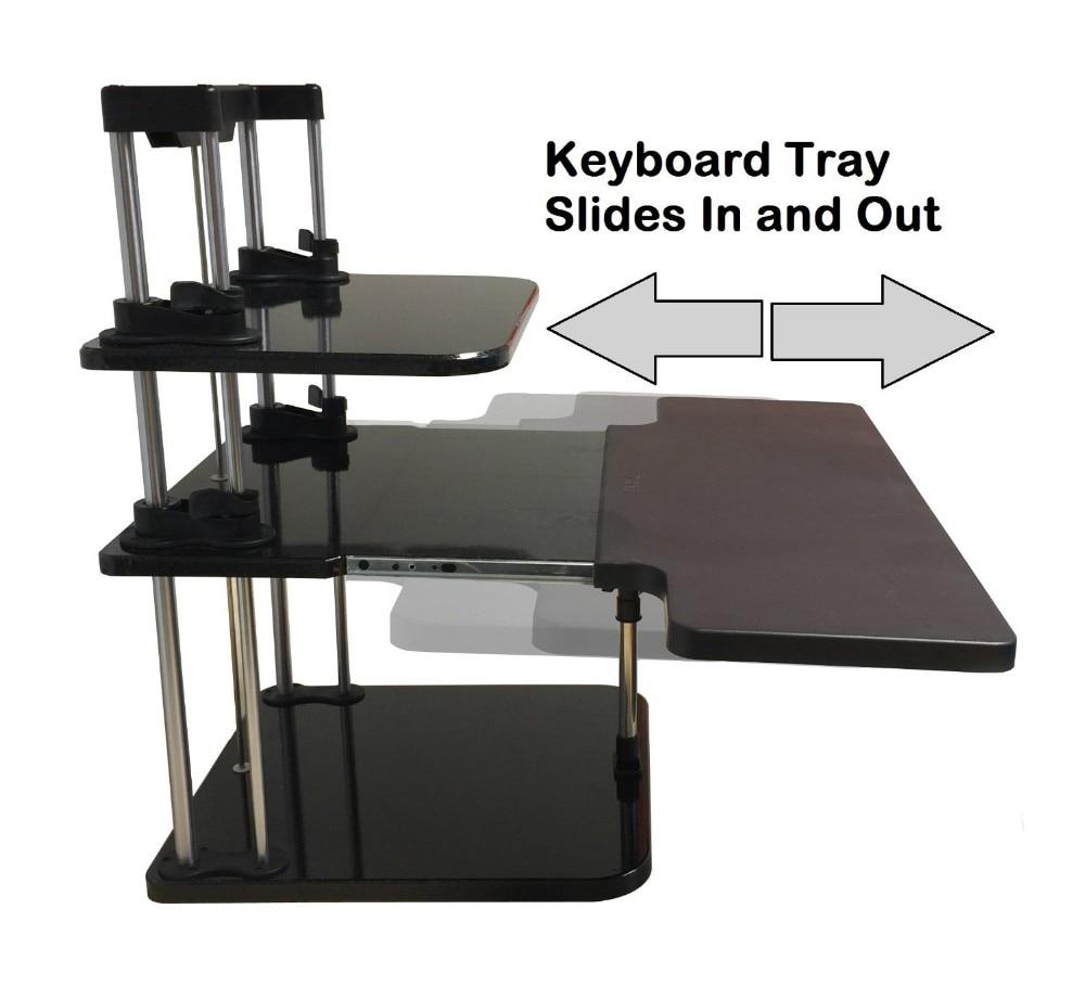 SitStand Desk Riser Three Level Height Adjustable Lightweight