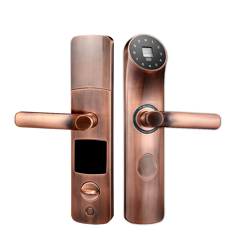 electronic biometric door lock fingerprint password rfid card key touch screen keypad digital - Biometric Door Lock