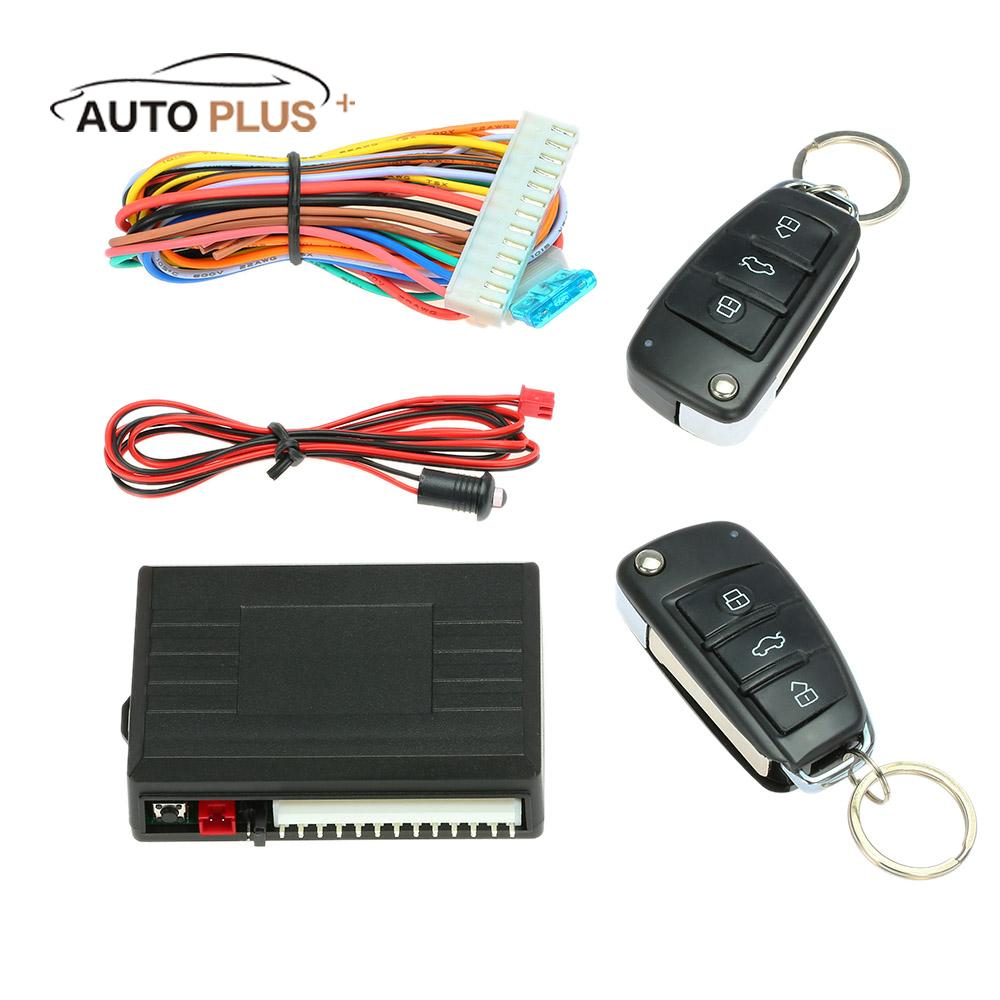Car Alarm Auto System Remote Control Central Locking Door kit Keyless Entry System with Button Start Stop LED Keychain for Audi shock your friend car remote keyless entry with led flashlight 2 pack