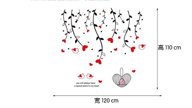 Wisteria Flowers Wall Sticker Wall Paster/Room Sticker/Home Decorative Poster 1 Set free shipping 90*60cm
