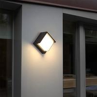 IP65 10W Outdoor Waterproof Wall Lamp Modern Indoor decoration LED Lighting Aluminum Porch Light Courtyard Garden Balcony Lamps