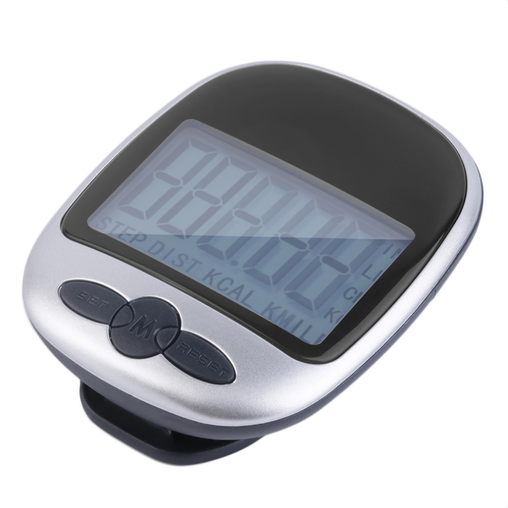 1 pc LCD Pedometer Calorie Walking Running Jogging Walking Distance Calculation Digital Counter Running Jogging Walking Step