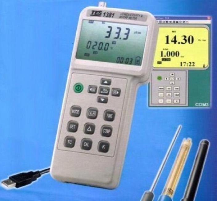 Conductivité et pH / ORP mètre mV TDS résistivité de Concentration de la salinité TES-1381
