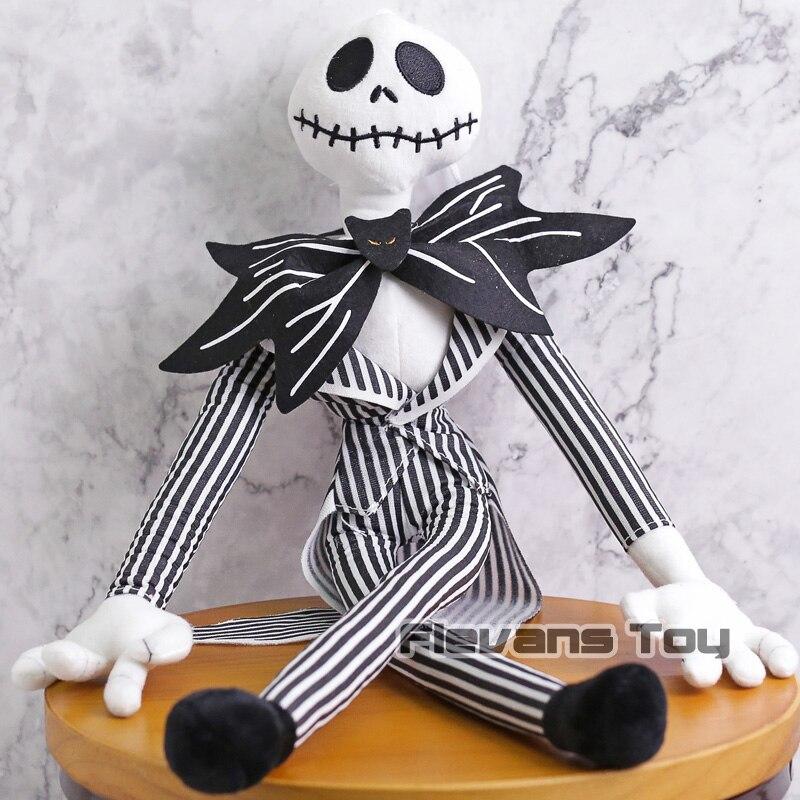 O pesadelo antes do natal jack skellington sally esqueleto preto crânio brinquedo de pelúcia boneca recheada presente do dia das bruxas