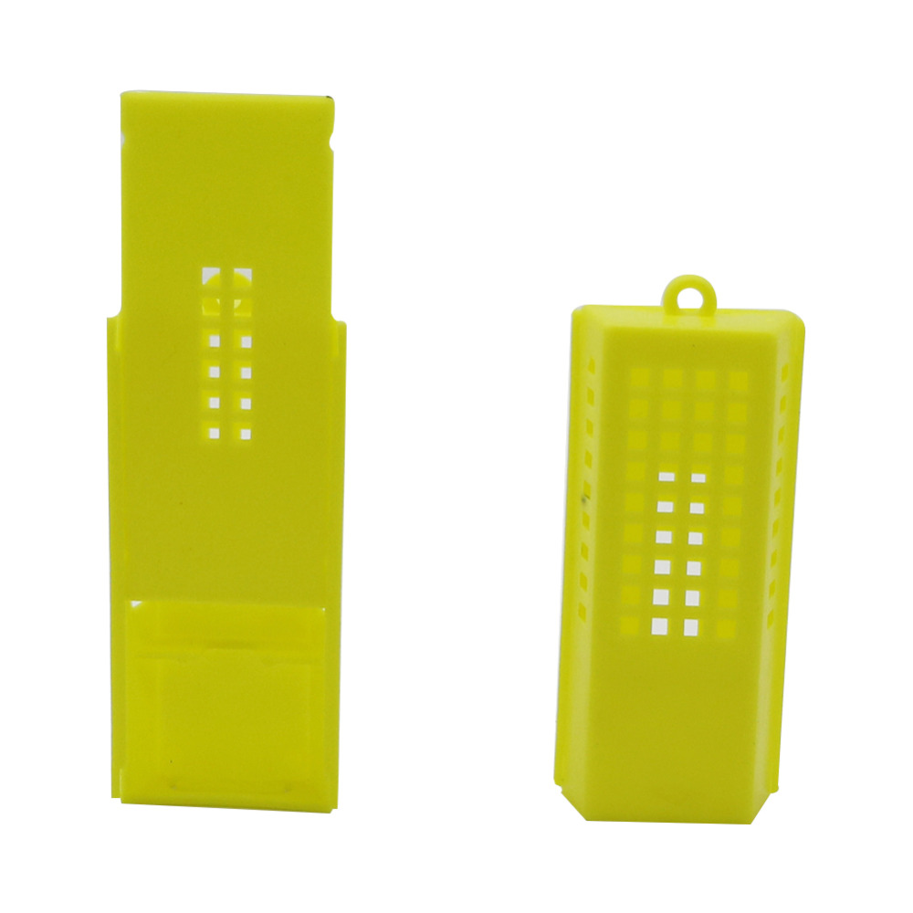 Yellow Bee Cages Beekeeping Transport Plastic Cages Beekeeper  Transport Bee Queen Isolation Beekeeping Tools 5 Pcs