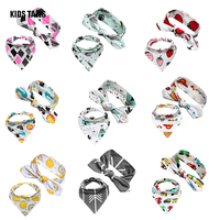 2017 100 Cotton Lovely Baby Hair Accessories Toddler Baby Girl Boy Kids Cartoon Bow Hairband Baby