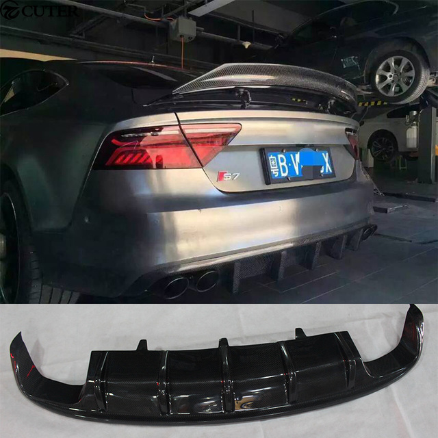 A7 Rs7 S Line Dtm Style Carbon Fiber Rear Bumper Lip Diffuser For