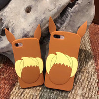 Hot Sale Cute Cartoon 3D Fox Soft Silicone Mobile Phone Cases For iPhone8 8Plus 7 7Plus Plastic Protective Shell For iPhone6 6S