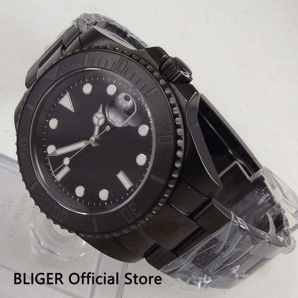 BLIGER 40 มม. ปราศจากเชื้อ Dial PVD กรณีนาฬิกา Sapphire Glass การเคลื่อนไหวอัตโนมัติ MIYOTA นาฬิกาผู้ชาย-ใน นาฬิกาข้อมือกลไก จาก นาฬิกาข้อมือ บน   2