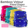 Baby Washable Reusable Real Cloth Bamboo Velour AI2 Diaper,Fit Birth to Potty 5-15kg, No Synthetic Material to Touch Baby
