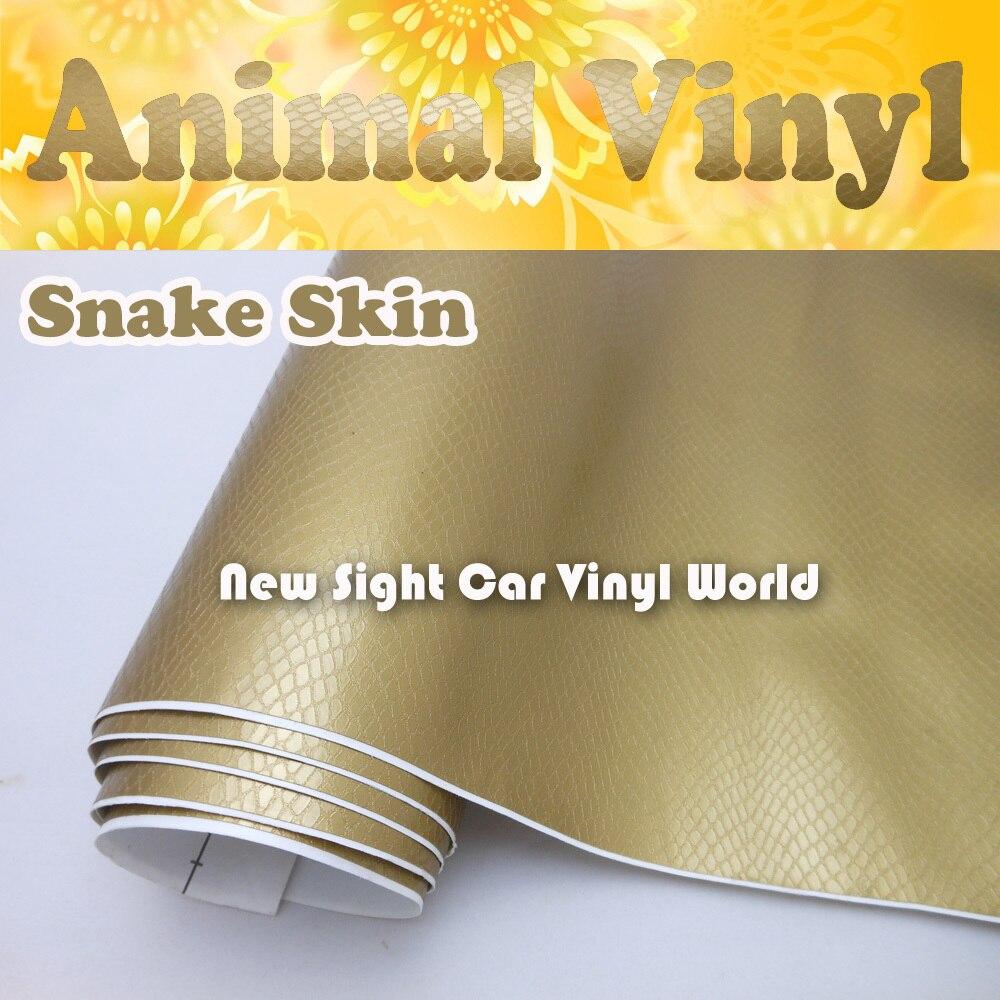 Haute Qualité Animal Vinyle Serpent Peau De Voitures D'emballage de Vinyle Rouleau Canaux D'air Pour Voiture Stickers Taille: 1.52*30 M/Rouleau