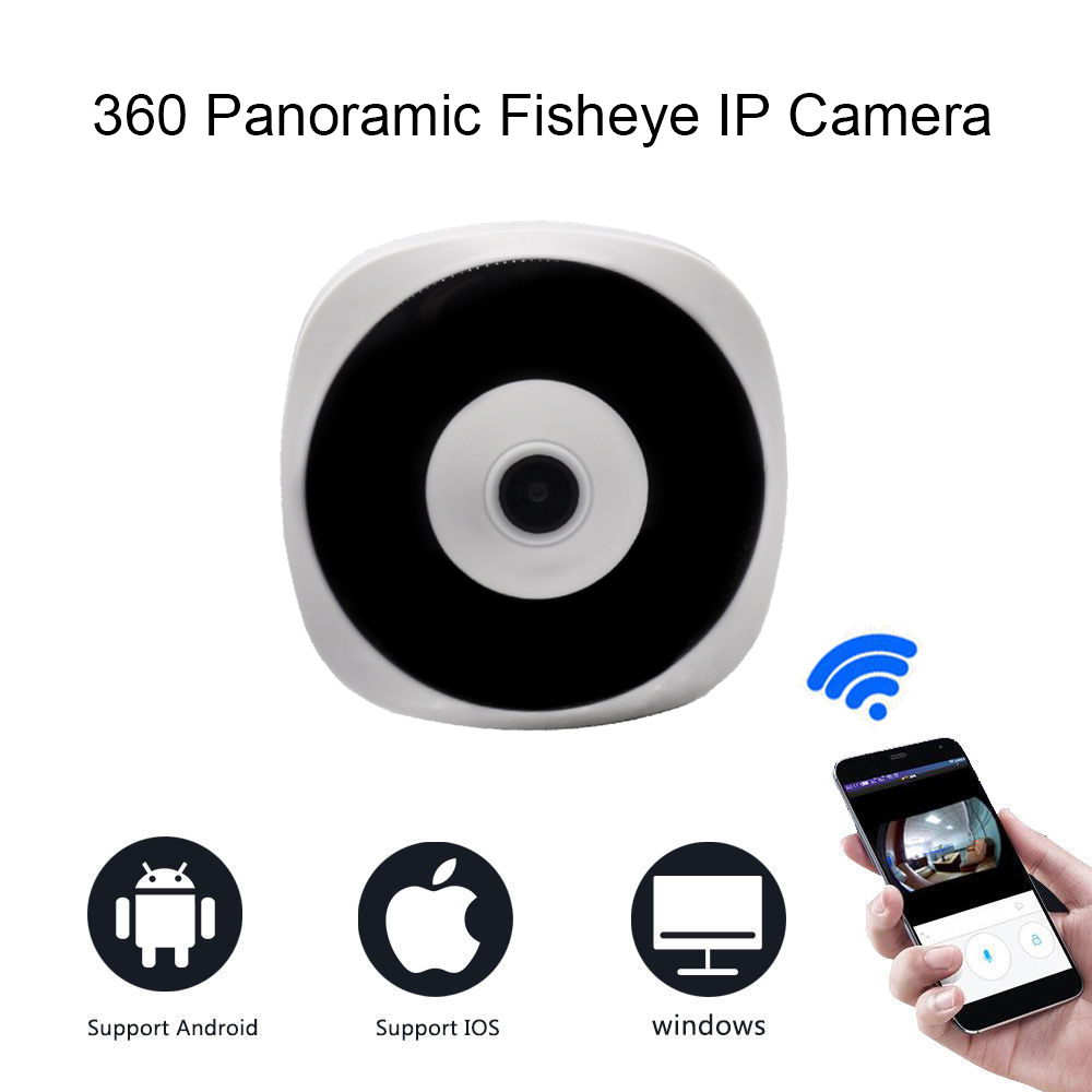 HD 1080P WiFi Network font b Wireless b font IP CCTV Cameras Infrared Fisheye Panoramic Home