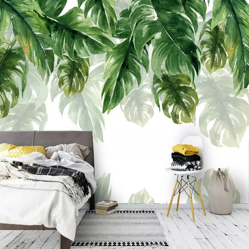 3D Wallpaper Modern Green Leaves Plant Murals Living Room TV Bedroom Study Restaurant Background Wall Papers For Walls 3 D Decor