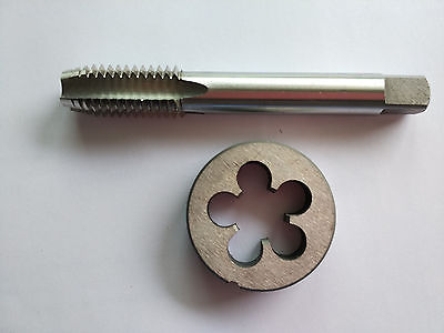 1pc HSS 9/16-12 Plug Left Tap and 1pc 9/16-12 Left Die Threading Tool  цены