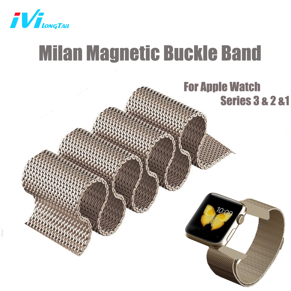 For Apple Watch Strap Band Cover Series 3 1 2 38mm 42mm Sport Edition Milan Metal Stainless Steel Magnetic Rainbow Colorful