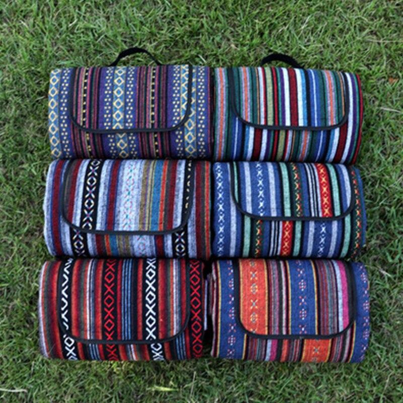 Pique-nique de plage en plein air pliant Camping tapis imperméable à l'eau dormir Camping Pad tapis étanche à l'humidité Folk-couverture personnalisée livraison gratuite