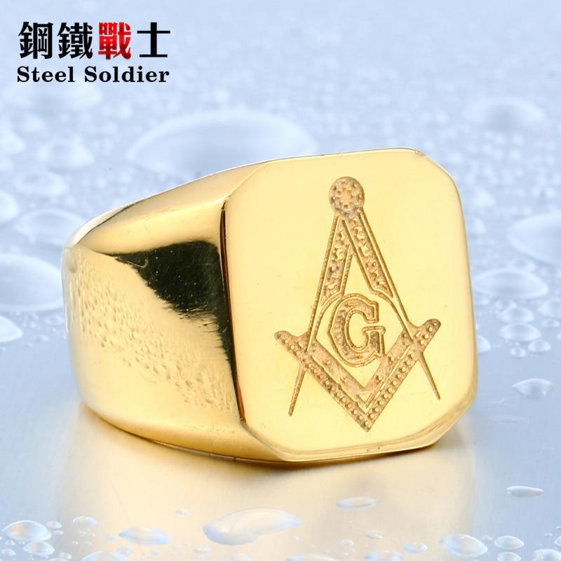 stalen soldaat nieuwe stijl roestvrij staal vrijmetselaars ring voor - Mode-sieraden - Foto 4