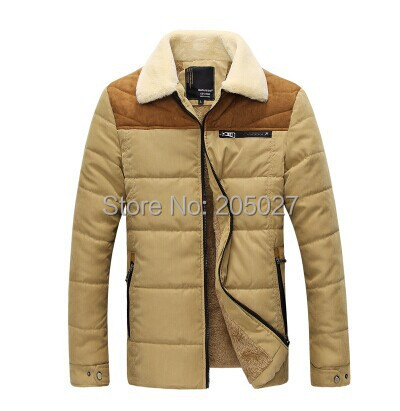 ФОТО 2014 Plus Size 3XL Men Fashion Winter Jackets Thick Warm Fleece Wadded Jacket Men Cotton Filling Wadded Coat Men Winter Jacket