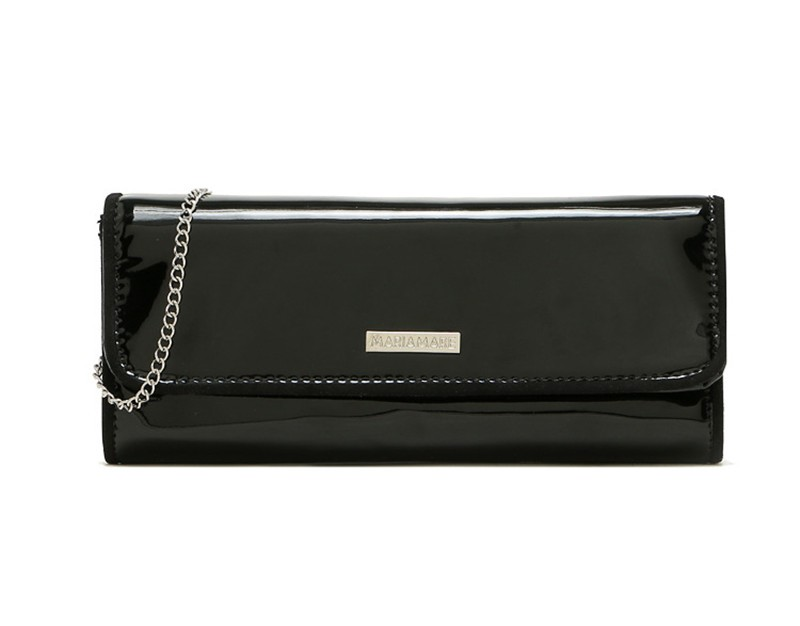 New Elegant Pure 3 Color Dinner Banquet Bag PU Leather High Quality Evening bag with chain HBF37 (4)