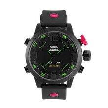 2016 Hommes de Marque Haut Quartz Numérique Montre de Sport de Plongée En Plein Air Militaire Montre-Bracelet Homme Horloge Ohsen LED Montre Relojes Hombre 50 M