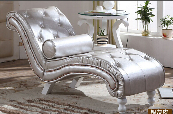 The new chair. Recliner. Single person sofa. the silver chair