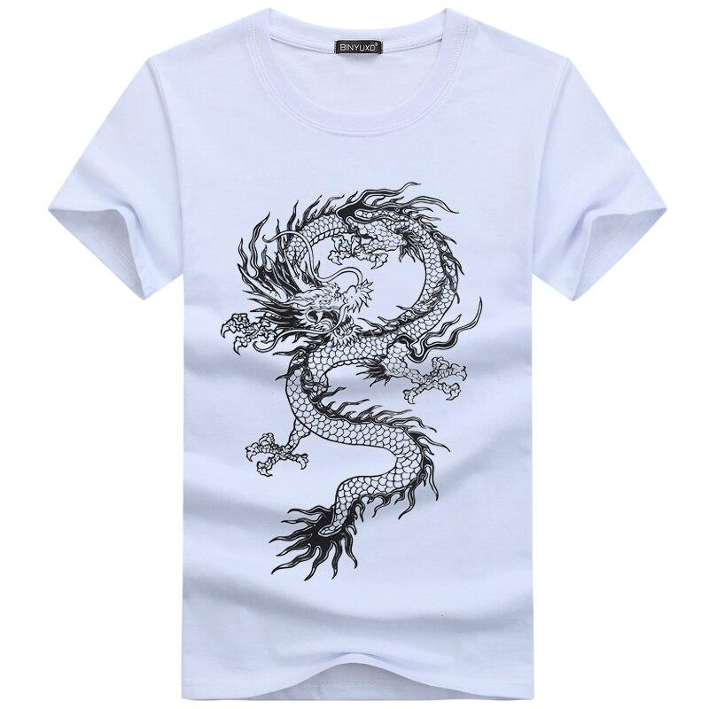 fe49ee6a70c753 BINYUXD Heißer verkauf Neue Sommer Mode Marke T Shirts für Männer neuheit  Drache Druck Tattoo Männer O ansatz Hip Hop T Shirts S 5XL in BINYUXD Heißer  ...