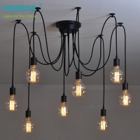 Vintage Industrial Edison Pendent Lamp Loft Country Style 6 Heads Retro Pendent Lights E27 Base For