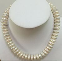 elegant 13 14mm baroque south sea white pearl necklace