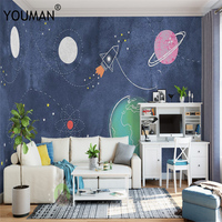 Wallpapers YOUMAN Custom 3D Modern Cartoon Photo Fashion Large Stereoscopic Wall Paper Mural Bedroom Boys Kids Room Universe
