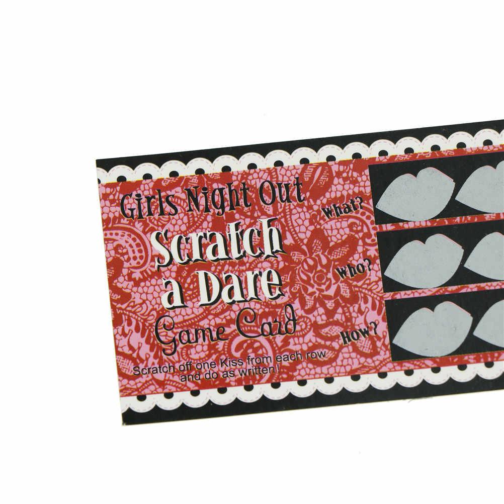 12 шт. сделать осмеление скретч карточная игра забавная шутка игрушка свадебный душ для девичника вечерние вечеринка для девочек Аксессуары