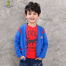 boy sweater 2017 Spring Autumn Child Teen Boys Overcoat Cotton Hoodie Blue Full Jacket Kids's Clothes Motion Youngsters Garments