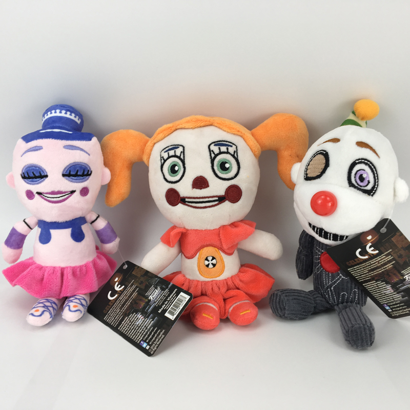 20cm FNAF Plush Toys Five Nights At Freddys Sister Location Freddy Baby Ballora Clown Plush Stuffed Toys Doll Gift for Children20cm FNAF Plush Toys Five Nights At Freddys Sister Location Freddy Baby Ballora Clown Plush Stuffed Toys Doll Gift for Children