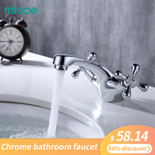 Micoe Basin Faucet Bathroom Basin Taps Waterfall Chrome Tap Hot Cold Water Faucet Chrome Dual Handler Single Hole Faucet H-HC226 все цены