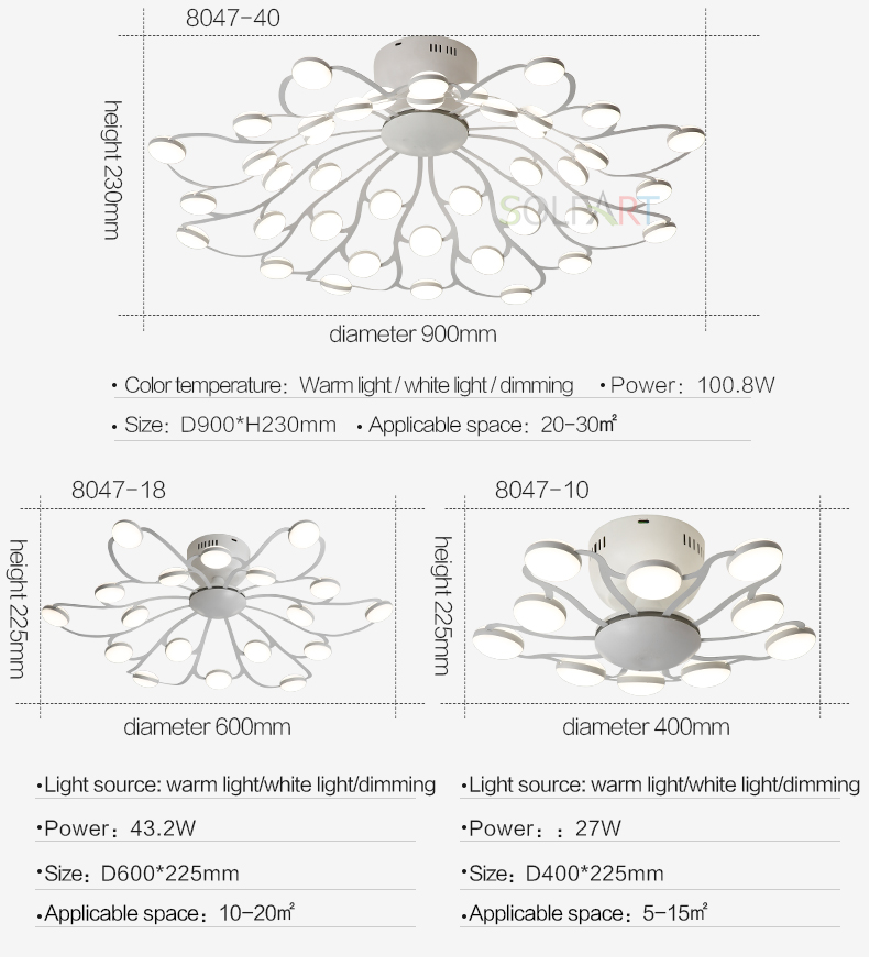 8047-LED Ceiling Light Sconce Luminaria Chandelier Ceiling Avize Light Fixtures Ceiling Lamp_08