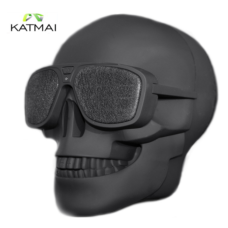 KATMAI Creative Skull Shape Wireless Bluetooth Speaker Stereo Subwoofer Bluetooth Speakers Mp3 Player Audio For Iphone