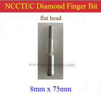 Flat Head 8mm 5 16 Straight Diamond Vacuum Brazed Router Finger Bit With 1 2