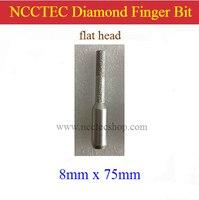 Flat Head 8mm 5 16 Straight Diamond Vacuum Brazed Router Finger Bit With 1 2